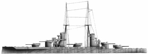 RN Cavour (Battleship) (1910)