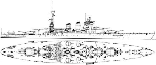 RN Conte di Cavour 1933 [Battleship]