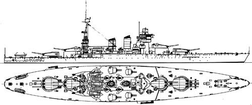 RN Conte di Cavour 1935 [Battleship]