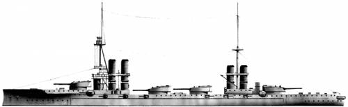 RN Dante Alighieri (Battleship) (1909)