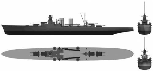 RN Luigi Di Savoia Duca Degli Abruzzi (Light Cruiser) (1937)