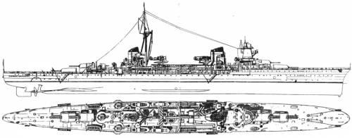 RN Raimondo Montecuccoli (Light Cruiser) (1938)
