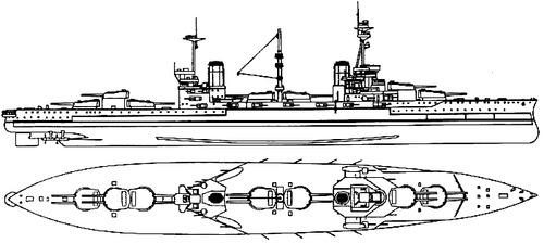 HMS Agincourt 1916 [Battleship]
