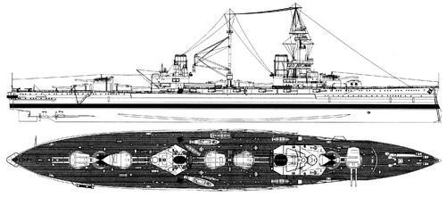 HMS Agincourt 1918 [Battleship]