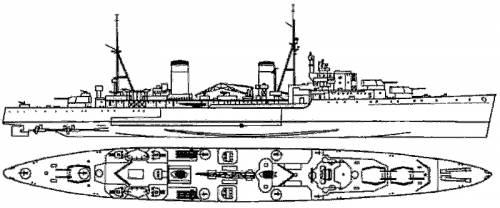 HMS Arethusa (Light cruiser) (1934)