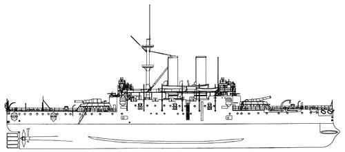 HMS Collingwood 1902 [Battleship]