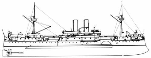 USS ACR-1 Maine (2nd Class Battleship) (1898)