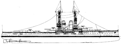 USS BB-30 Florida 1911 [Battleship]