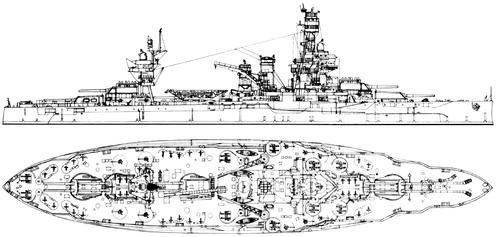 USS BB-35 Texas 1945 [Battleship]