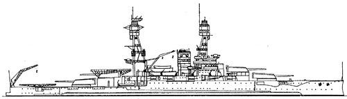 USS BB-36 Nevada 1936 [Battleship]