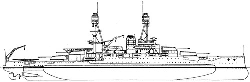 USS BB-37 Oklahoma 1930 [Battleship]