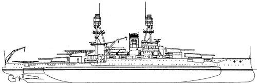 USS BB-37 Oklahoma 1936 [Battleship]
