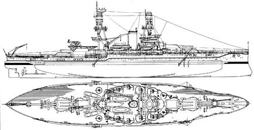 USS BB-37 Oklahoma 1941 [Battleship]