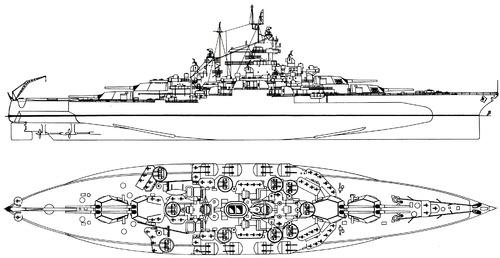 USS BB-44 West Virginia 1945