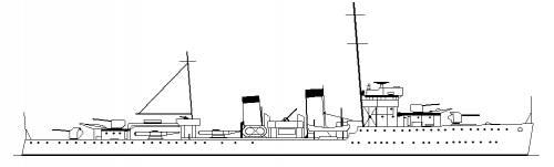 RNN Admiralen (Destroyer) Netherlands (1940)
