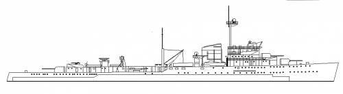 RNN Tromp (Cruiser) Netherlands (1942)