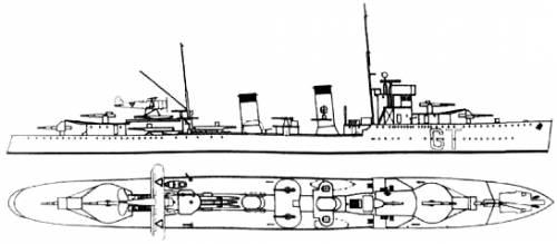 RNN Van Ghent (Destroyer) Netherlands (1940)