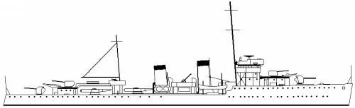 RNN Witte de With (destroyer) Netherlands (1930)