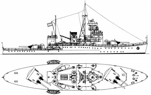 RSN Thonburi (Coastal Defense Ship) - Siam (1939)