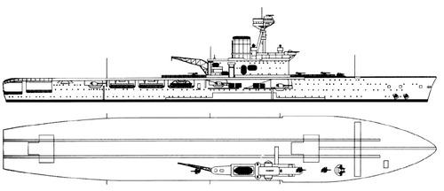 HMS Hermes 1924 {Aircraft Carrier)