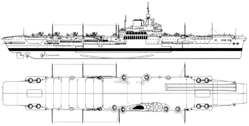 HMS Illustrious 1941 {Aircraft Carrier)