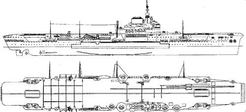 HMS Illustrious R87 1940 [Aircraft Carrier]
