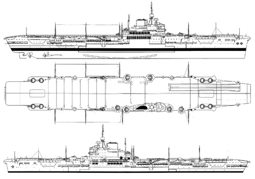 HMS Victorious 1941 {Aircraft Carrier)