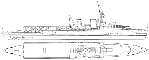 HMS Vindictive 1918 (Aircraft Carrier)