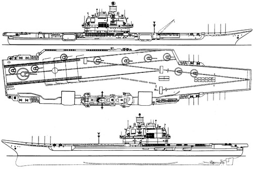 USSR Admiral Kuznetsov 1993 (Project 1143.5 Orel Aircraft Carrier)