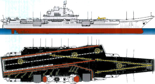 PLAN Liaoning (Aircraft Carrier) ex USSR Project 1143.5 Varyag