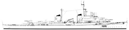 NMF Chateaurenault 1958 (Light Cruiser) ex RN Attilio Regolo