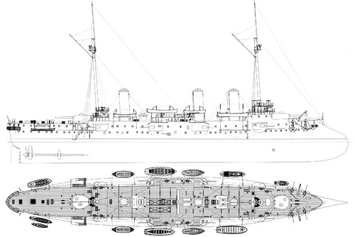 NMF d'Entrecasteaux 1897 [Protected Cruiser]