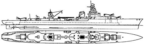 NMF Emile Bertin 1944 [Light Cruiser]