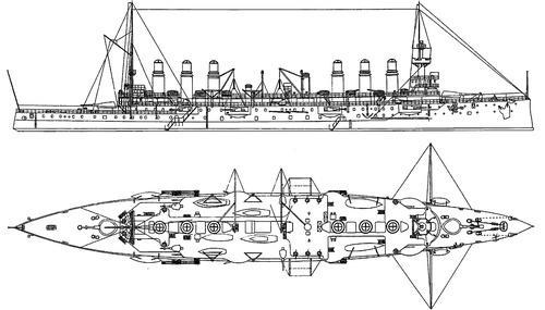 NMF Jeanne d`Arc 1902 (Armored Cruiser)