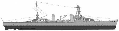 NMF Tourville (Heavy Cruiser) (1945)