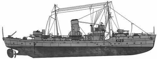 HMCS Agassiz K-129 (Corvette)