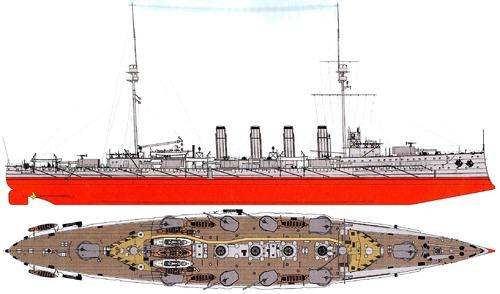 HMS Achilles 1908 (Armoured Cruiser)