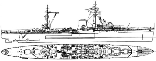 HMS Ajax 1942 [Light Cruiser]