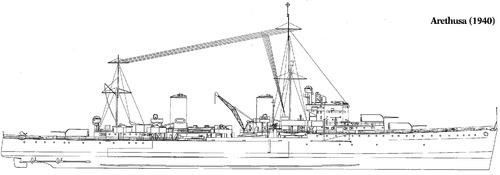 HMS Arethusa 1940 [Light Cruiser]