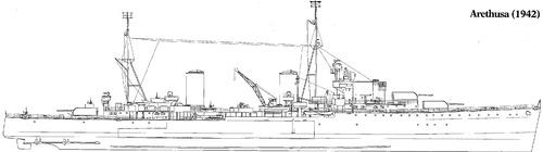 HMS Arethusa 1942 [Light Cruiser]