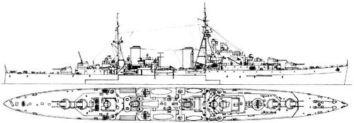 HMS Black Prince C81 1944 [Light Cruiser]
