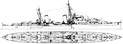 HMS Charybdis C88 1943 [Light Cruiser]