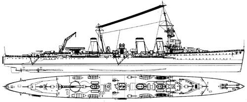 HMS Emerald D66 1934 [Light Cruiser]