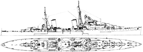 HMS Euryalus C42 1941 [Light Cruiser]