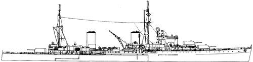 HMS Galatea 1941 [Light Cruiser]