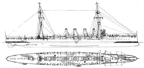 HMS Glasgow 1910 [Light Cruiser]