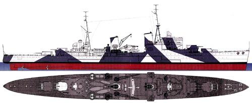 HMS Gloucester 1941 [Light Cruiser]