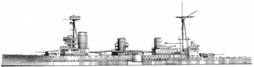 HMS Indefatigable (Battlecruiser) (1916)