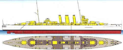 HMS Kent 1930 [Heavy Cruiser]