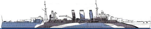 HMS Kent 1943 [Heavy Cruiser]